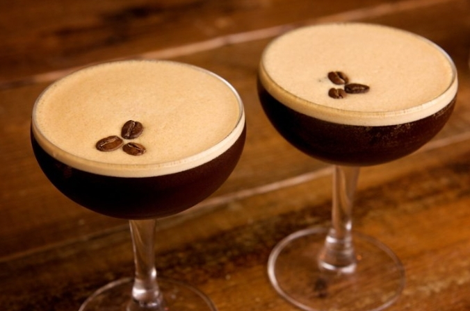 Two espresso martinis